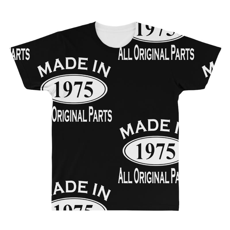 Made In 1975 Mens 40th Birthday All Over T Shirt