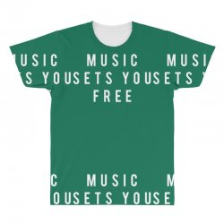 music sets you free All Over Men's T-shirt | Artistshot