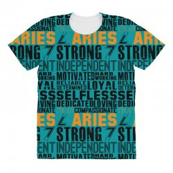 56395fd0 Strong Independent Motivated Aries All Over Women'... Strong Independent  Motivated Aries Women's Triblend Scoop T-shirt   Artistshot