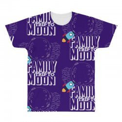 Family Trip To Moon All Over Men's T-shirt | Artistshot