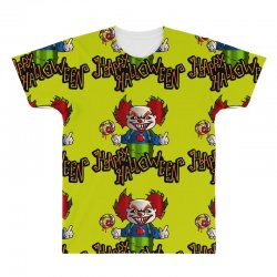 6385436719d19 Custom Halloween Clown All Over Men s T-shirt By Defit - Artistshot