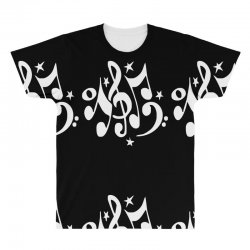 music notes#4 rock design graphic band All Over Men's T-shirt | Artistshot