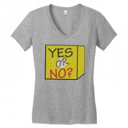 yes our no Women's V-Neck T-Shirt | Artistshot