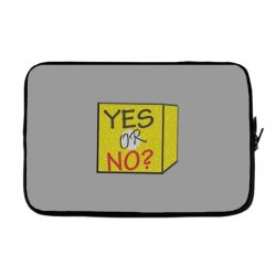 yes our no Laptop sleeve | Artistshot