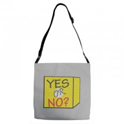 yes our no Adjustable Strap Totes | Artistshot