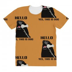 hello yes this is dog telephone phone All Over Women's T-shirt | Artistshot