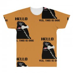 hello yes this is dog telephone phone All Over Men's T-shirt | Artistshot