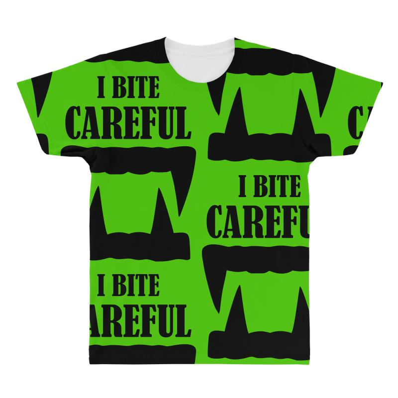 Careful I Bite Halloween M All Over Men's T-shirt | Artistshot