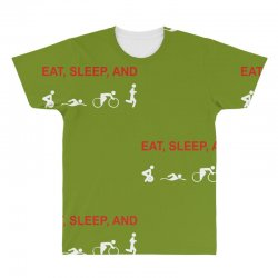 eat, sleep & train triathlon sports, gym, athletic All Over Men's T-shirt | Artistshot