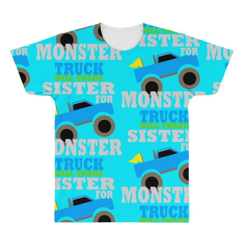 8579b791 Custom Monster Truck Shirt For Boys Toddlers All Over Men's T-shirt By  Jafarnr1966 - Artistshot