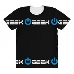 geek' (power on button) All Over Women's T-shirt | Artistshot