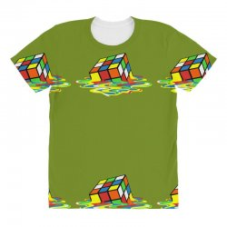 big bang theory melting rubiks cube All Over Women's T-shirt | Artistshot