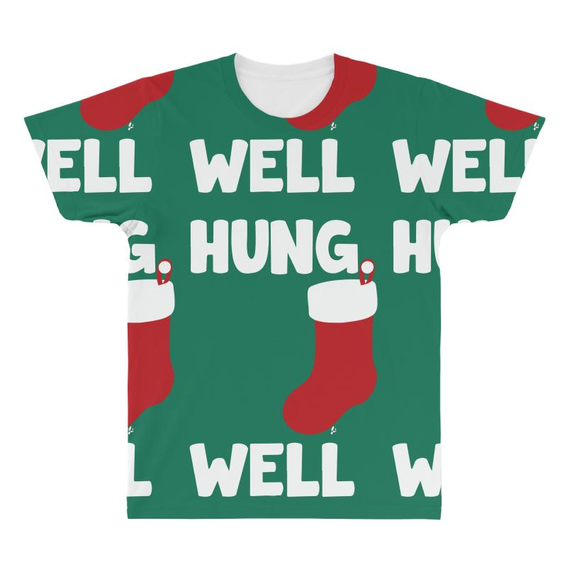 8bff186b122 Custom Well Hung Endowed Christmas Stocking Funny All Over Men s T ...
