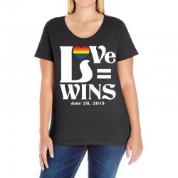 Love Wins Ladies Curvy T-Shirt | Artistshot