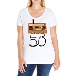 music tape retro Ladies Curvy T-Shirt | Artistshot
