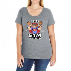 funny gym sloth the goonies fitness t shirt vectorized Ladies Curvy T-Shirt | Artistshot