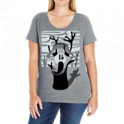 the tree's scream Ladies Curvy T-Shirt | Artistshot