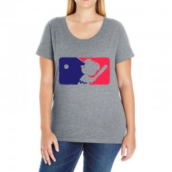 Peanuts League Baseball Ladies Curvy T-Shirt | Artistshot