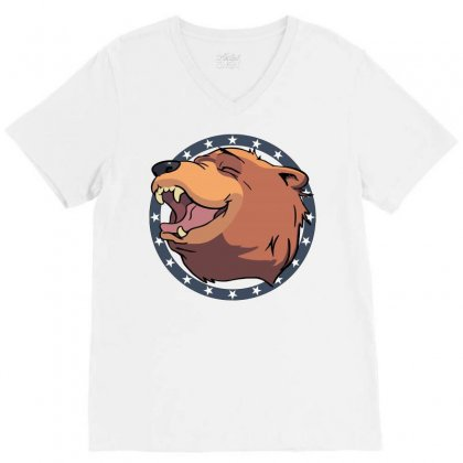 Cheeseburger! The Bear In Far Cry 5 V-neck Tee Designed By Mdk Art