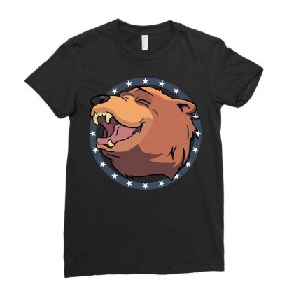 Cheeseburger! The Bear In Far Cry 5 Ladies Fitted T-shirt Designed By Mdk Art