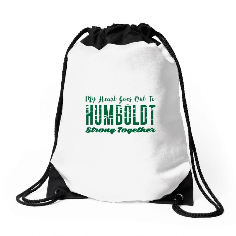 My Heart Goes Out To Humboldt Strong Together Drawstring Bags | Artistshot