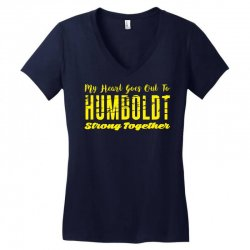My Heart Goes Out To HUMBOLDT Strong Together Women's V-Neck T-Shirt | Artistshot
