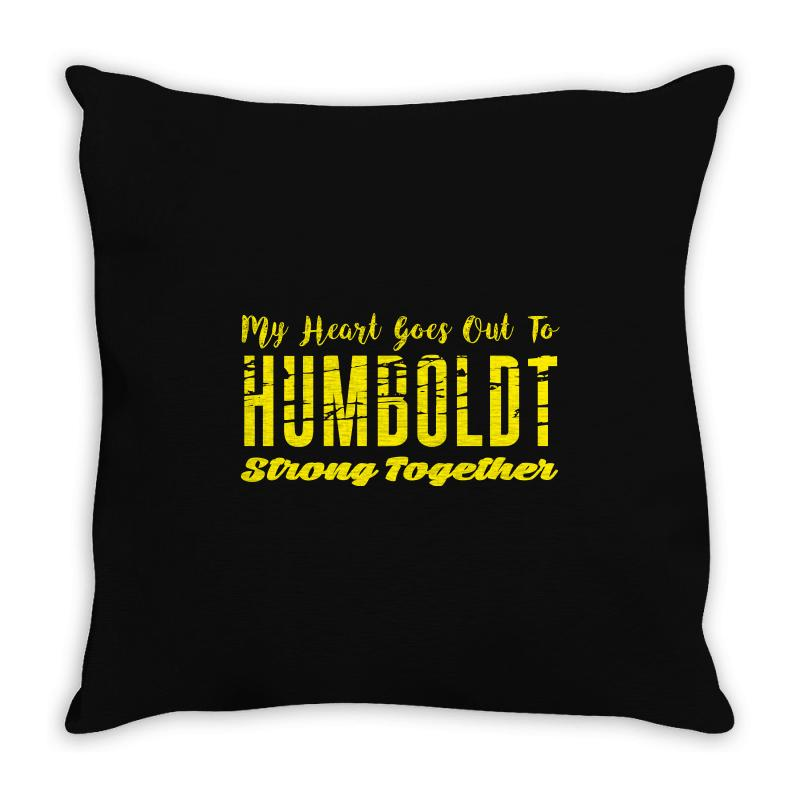 My Heart Goes Out To Humboldt Strong Together Throw Pillow | Artistshot