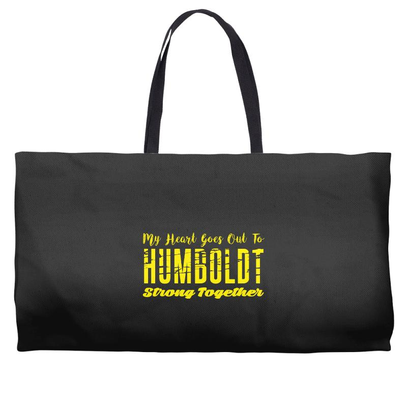 My Heart Goes Out To Humboldt Strong Together Weekender Totes | Artistshot