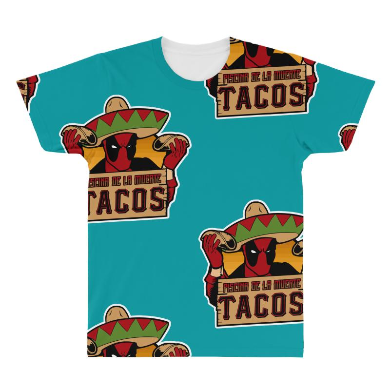 Custom Piscina De La Muerte Tacos All Over Men S T Shirt By Mir Art