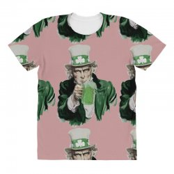 st patricks day  uncle sam All Over Women's T-shirt | Artistshot