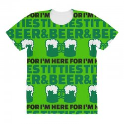 st. patrick's day titties and beer All Over Women's T-shirt | Artistshot