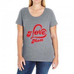 I love mom Ladies Curvy T-Shirt | Artistshot