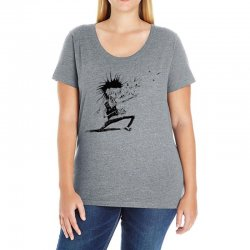 Zombie Music Ladies Curvy T-Shirt | Artistshot