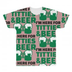 st. patrick's day titties and beer All Over Men's T-shirt   Artistshot