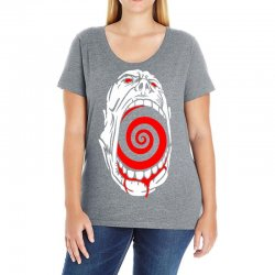 screaming face Ladies Curvy T-Shirt | Artistshot