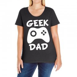 geek dad Ladies Curvy T-Shirt | Artistshot