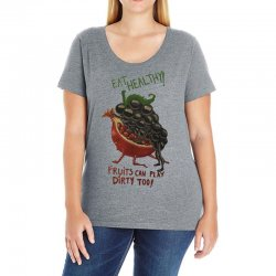 eat fruits Ladies Curvy T-Shirt | Artistshot