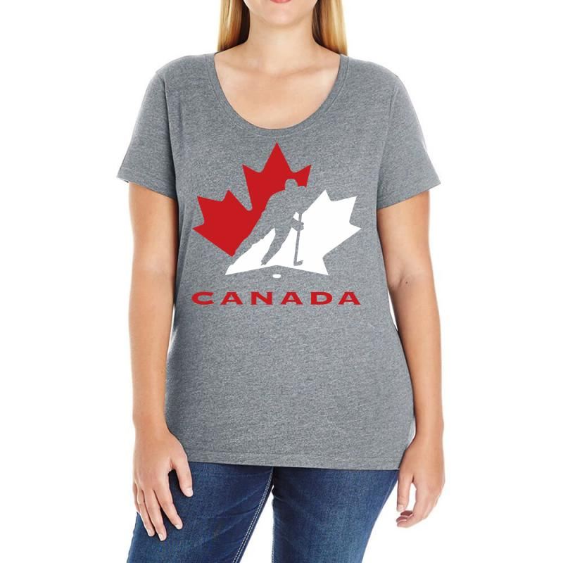 Hockey Canada Ladies Curvy T-shirt | Artistshot