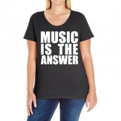 music is the answer printed Ladies Curvy T-Shirt | Artistshot