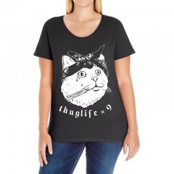 thug cat Ladies Curvy T-Shirt | Artistshot
