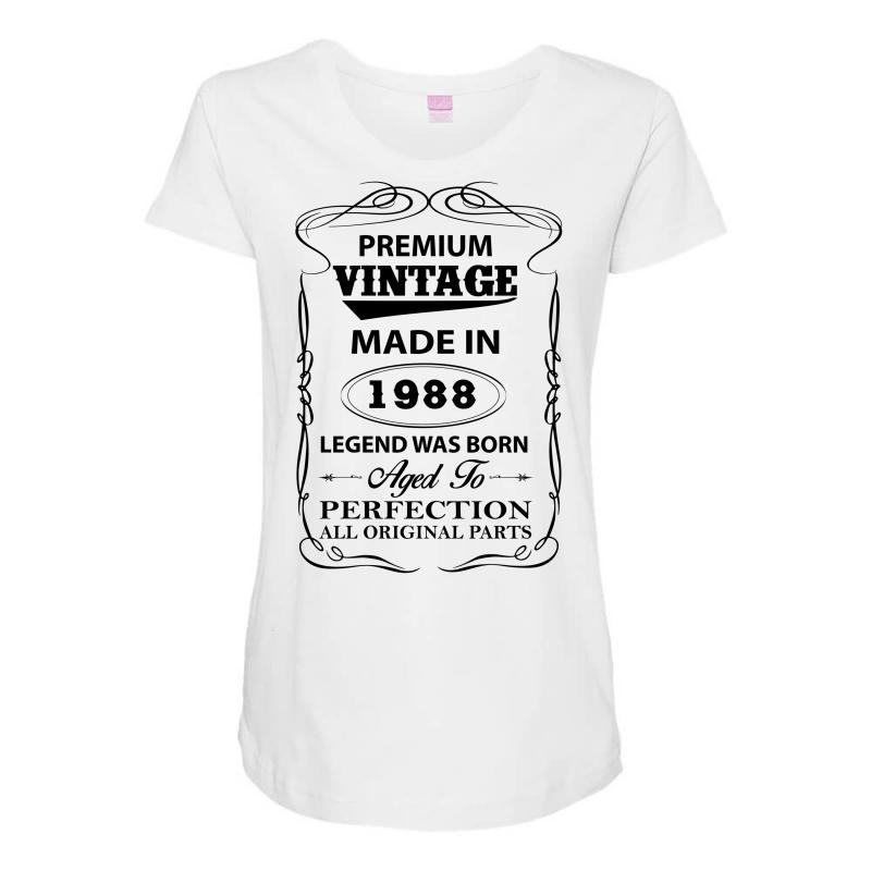 7355ff693 Custom Vintage Legend Was Born 1988 Maternity Scoop Neck T-shirt By ...
