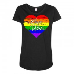 Love Wins One Pulse Orlando Strong Maternity Scoop Neck T-shirt | Artistshot