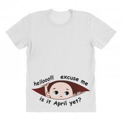April Peeking Out Baby Boy All Over Women's T-shirt | Artistshot