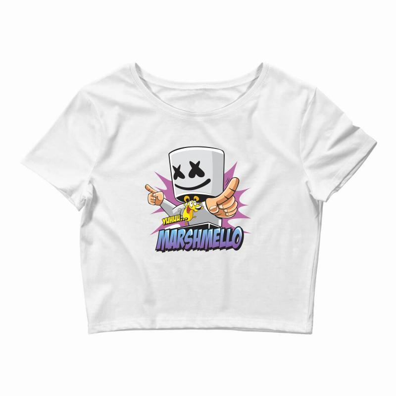 d6e1fed296143e Custom Marshmello Crop Top By Mdk Art - Artistshot