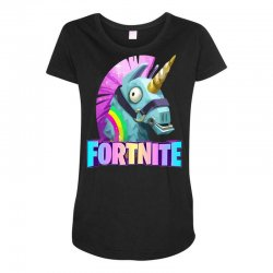 fortnite unicorn Maternity Scoop Neck T-shirt | Artistshot