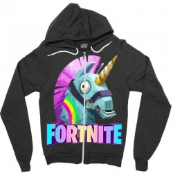 fortnite unicorn Zipper Hoodie | Artistshot