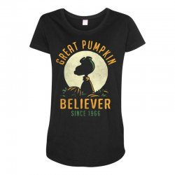 Great Pumpkin Believer Maternity Scoop Neck T-shirt | Artistshot