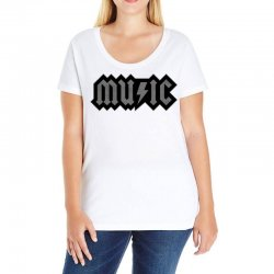 music Ladies Curvy T-Shirt | Artistshot