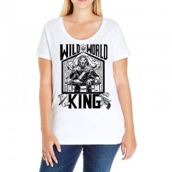 Wild World King Ladies Curvy T-Shirt | Artistshot