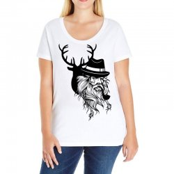 Wise Wild Ladies Curvy T-Shirt | Artistshot